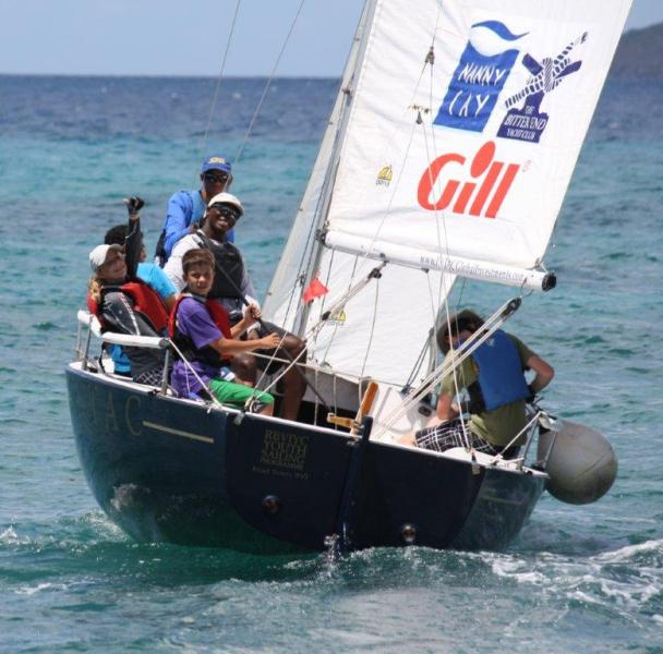 Cayman Islands Youth Sailing Team with Coach Browne.jpg