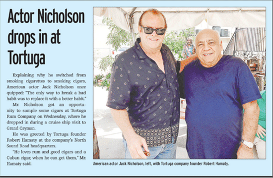 Cayman News Service, Jack Nicholson impersonator